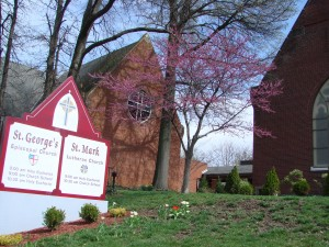 St. Mark & St. George's sign | St. Mark Lutheran Church Belleville Illinois
