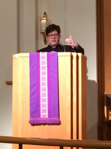 Bishop Eaton delivers the Schaaf lecture
