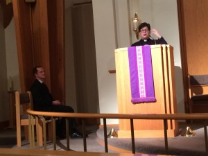 Bishop Eaton delivers the Schaaf lecture with Pastor Brian