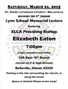 Schaaf Lecture 2015 | St. Mark Lutheran Church Belleville Illinois