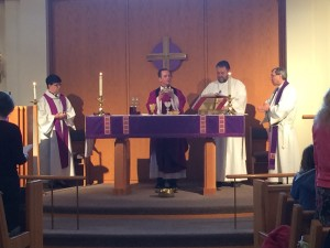 Pr. Brian presiding at liturgy with Bishop Eaton (1)