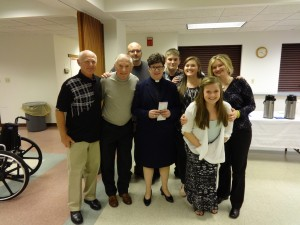 Schaaf family with Bishop Eaton